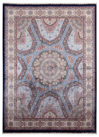 Teppich Qoum Shah 3 Marine 230x160