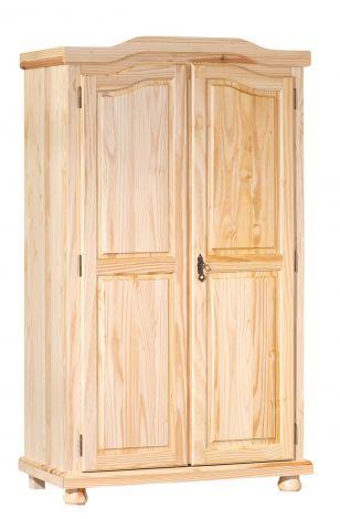 Kleiderschrank Bastian mit 2 Türen - natur
