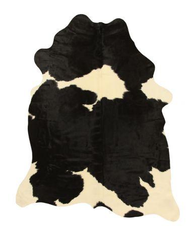 Teppich Leder Kuhfell Braun/Weiß - 3.5/4m