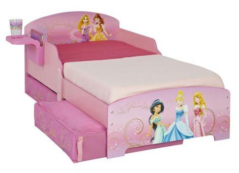 Kleinkindbett Disney Prinzessinnen mit Bettschubkästen