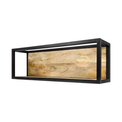 Wandkasten Levels 75x25cm Mango-Holz/Eisen