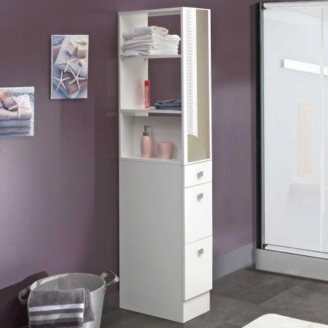 Badezimmerschrank Split - weiß