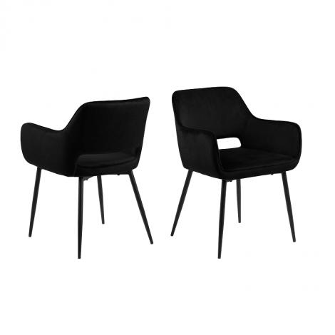Satz von 2 Stühlen Dani - schwarz