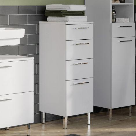 Badezimmerschrank Artis 4 Schubladen - weiß