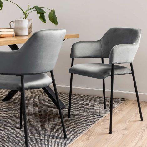 2er Set Stühle Lilou - grau