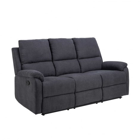 3-Sitzer Santiago manuell verstellbar - grau
