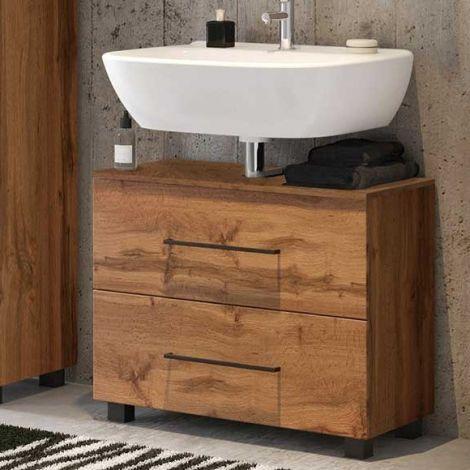 Waschtischunterschrank Dusan 70cm mit 1 Schublade und 1 Tür - Eiche wotan