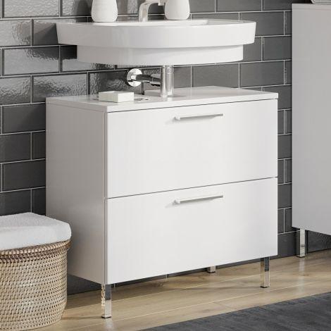 Waschbeckenschrank Artis 60cm mit 2 Schubladen - weiß