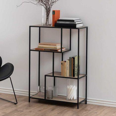 Seaford bookcase - matt black
