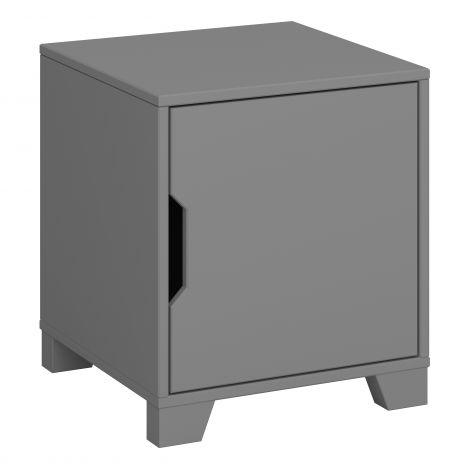Nachttisch Loki 1 Tür - grau
