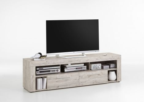 TV-Schrank Vidi 180 cm - Eiche grau