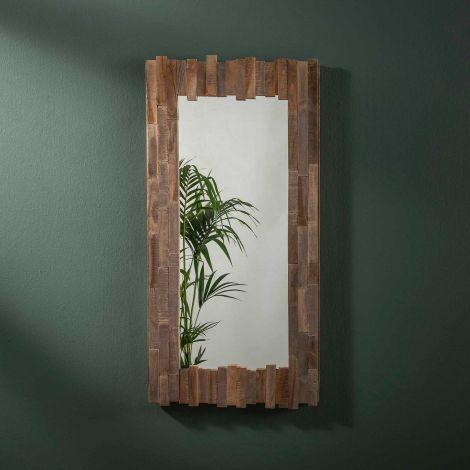 Spiegel Teca 50x100 - Teakholz grau waschen
