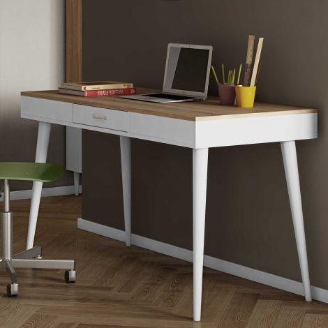 Schreibtisch Horizon 134cm - Eiche/Weiß