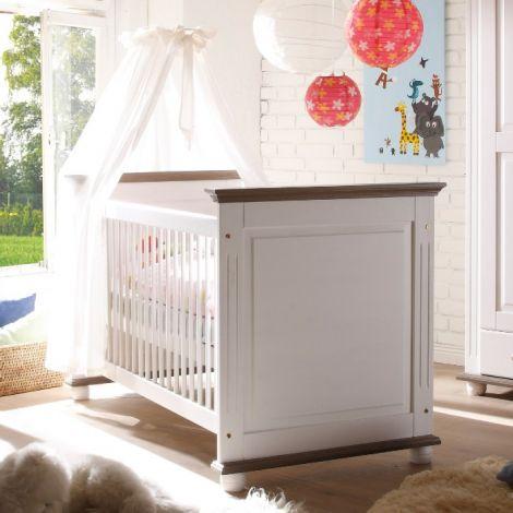 Babybett Laurel 70x140 - weiß/braun
