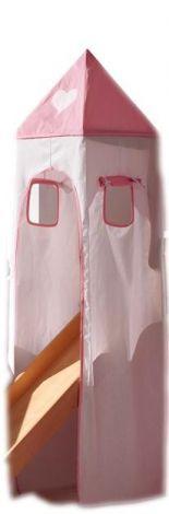Turmzelt - rosa/weiß