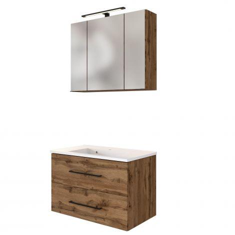 Waschbeckenmöbel-Set Dusan 80cm - wotan Eiche