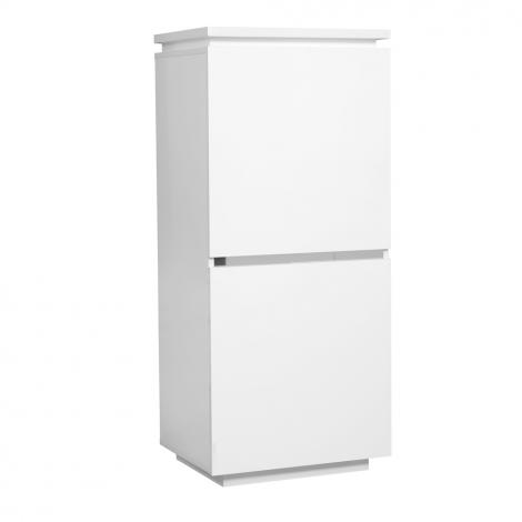 Buffetschrank Elif 55cm mit 2 Türen - hochglanz-weiß