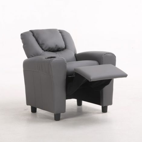 Relaxstuhl für Kinder Rex - grau