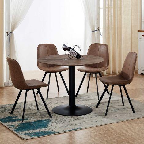 Tisch Juliette 105 - braun/schwarz