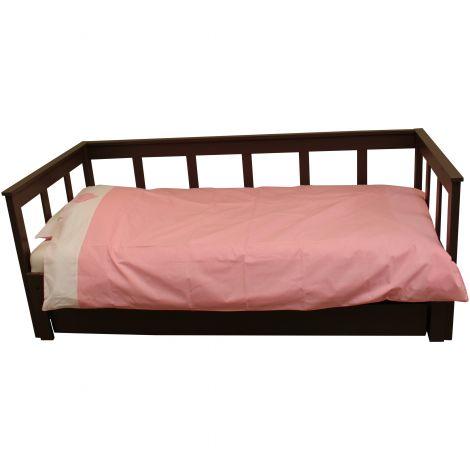 Bettbezug rosa/weißes Herz