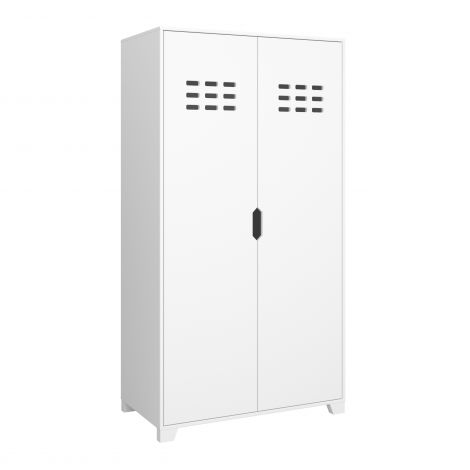 Kleiderschrank Loki 90cm mit 2 Türen - weiß