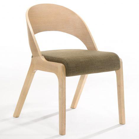 2er-Set Stühle Ulrike - Eiche/Braun