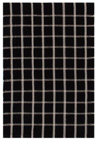 Teppich Millport 200x60 Schwarz/Weiß