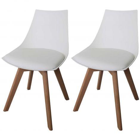 Set mit 2 Stühlen Cosmo - weiß