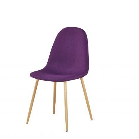 Satz mit 4 Stühlen Yo - violett