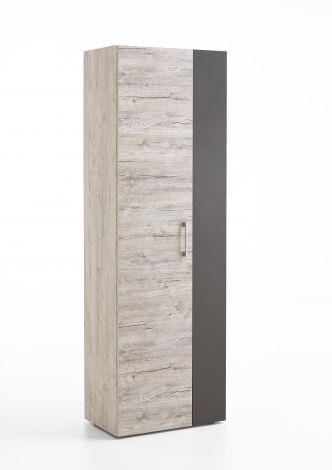 Kleiderschrank Nala 60cm mit 2 Türen - Eiche grau