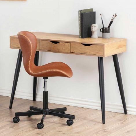 Neptun desk - black, matt black, wild oak
