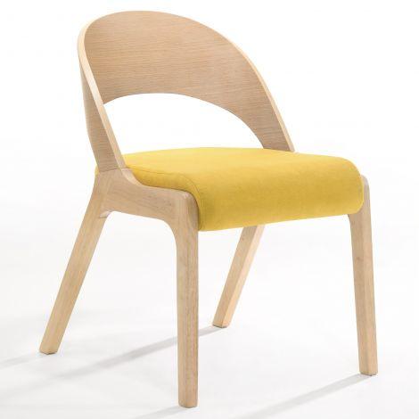 2er-Set Stühle Ulrike - Eiche/gelb