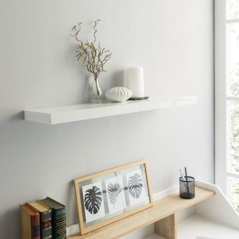 Wandregal Regal 80cm - Hochglanz weiß