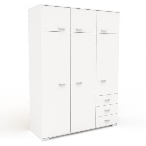 Kleiderschrank Galaxy 6 Türen - weiß