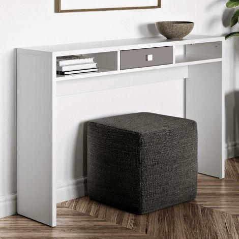 Seitentisch Pure - weiß/taupe