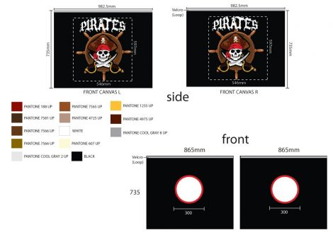 Bettzelt Pirates