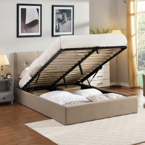 Doppelbett Corbi mit Lagerung 140x200 - Sand