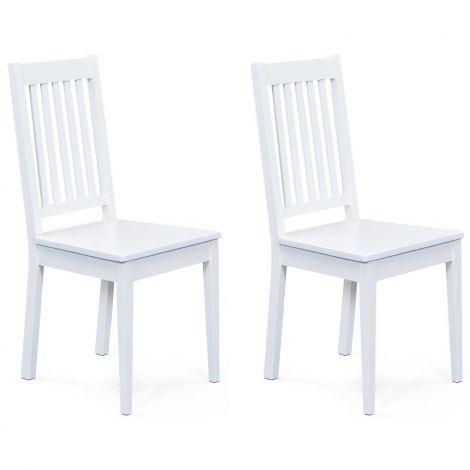 Set mit 2 Stühlen Westerland - weiß