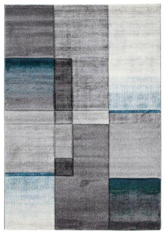 Teppich Timelapse 190x133 Grau/Hellblau