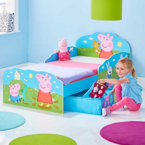 Kleinkindbett mit Schubladen Peppa Pig