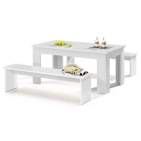 Tischset München 140cm - weiß