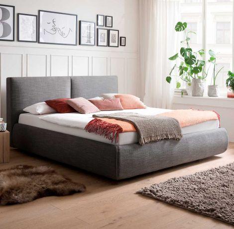 Bett mit Stauraum Celine 180x200 - anthrazit (inkl. Matratze Lucca H2 H3)
