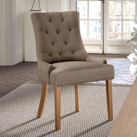Satz von 2 Stühlen - taupe