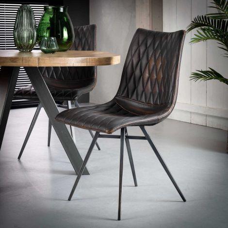 2er Set Stühle Vinnie - braun