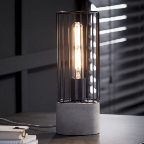 Tischlampe Zylinder verdrahteter Rahmen - Concrete