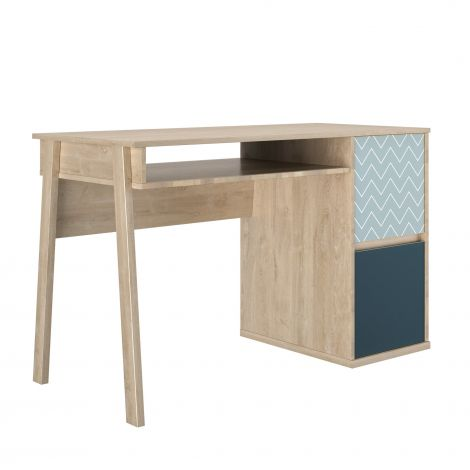 Schreibtisch Lina 123cm mit 2 Türen - Eiche hell
