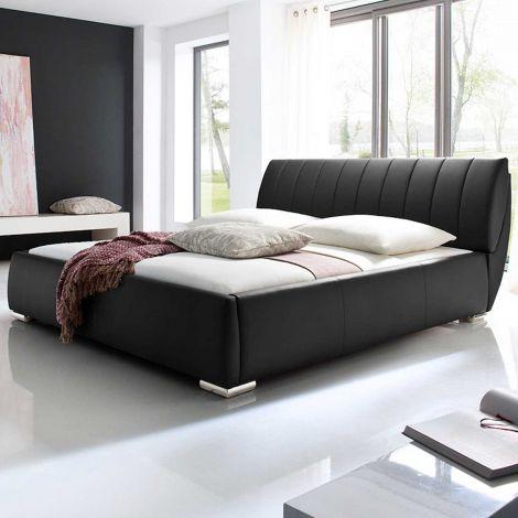 Bett mit Stauraum Davos 200x200 - schwarz