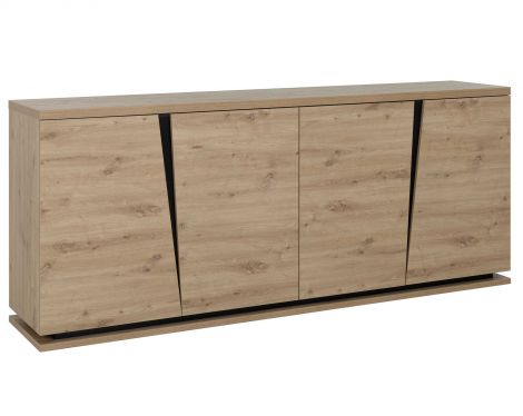 Sideboard Split 220cm mit 4 Türen - Eiche artisan