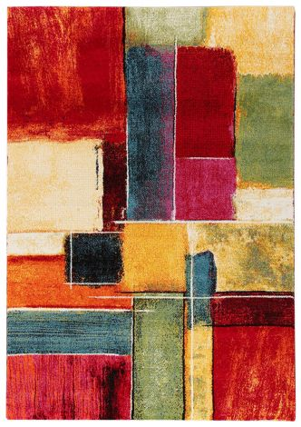 Teppich Galerie Dunkel 190x133 - Multicolor