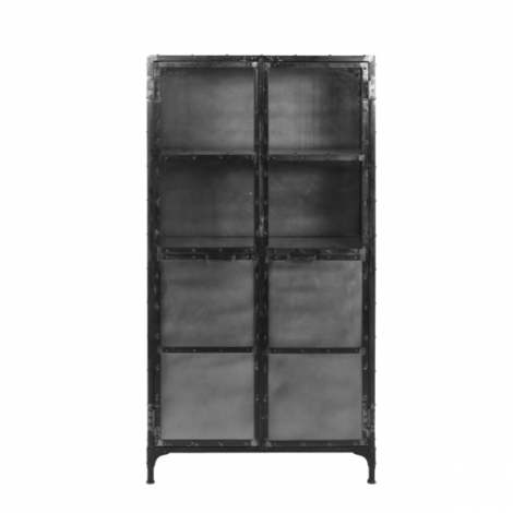 Vitrine Brooklyn 180cm Stahl/Glas natur